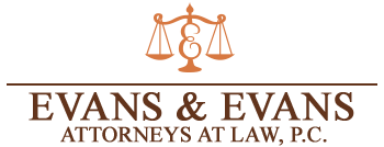 Evans & Evans Attorneys at Law, P.C. Header Logo